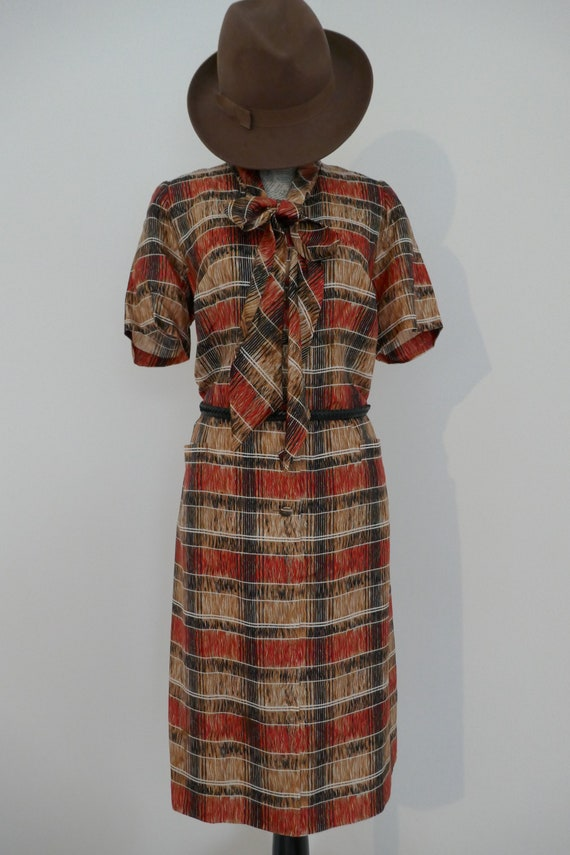 60s Handmade Silk Dress