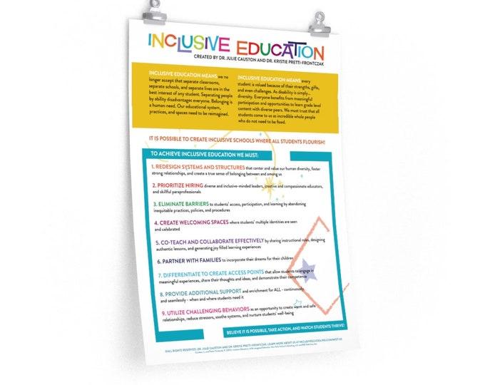 Definition of Inclusion - Premium Matte vertical poster (2 sizes)