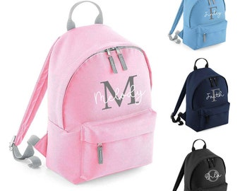 Personalised Backpack with Name and Initial