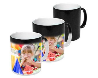 Heat Changing Mug - Personalised! Add Photos and Text