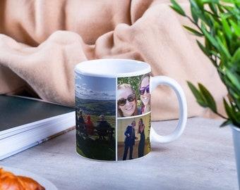 Personalised Photo Mug - Novelty Mug Customised with up to 6 Photos.