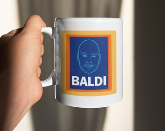 Baldi, Baldy Mug - Novelty Mug and Coaster, Aldi Spoof