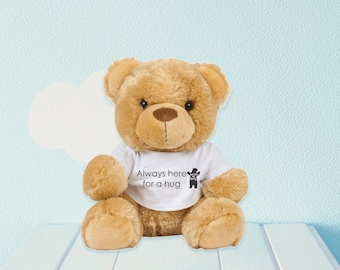 Personalised Teddy Bear with Printed T-Shirt / Personal Message, Logo or Photo