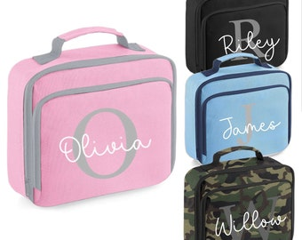 Personalised Lunch Box / Bag - School, Day Trips, Picnics, Work