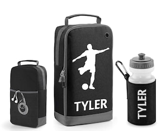 Personalised Football Boot Bag and Bottle