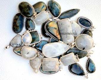 100/% Natural Turquoise Larimar Jasper Gemstone 9.25 Solid Silver  Pendant,Wholesale lot Mix Shape /& Size Jewelry Gift for Love