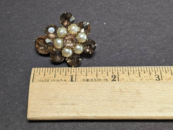 Gorgeous vintage Coro rhinestone and faux pearl c… - image 7