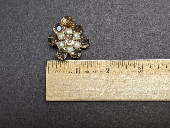 Gorgeous vintage Coro rhinestone and faux pearl c… - image 8
