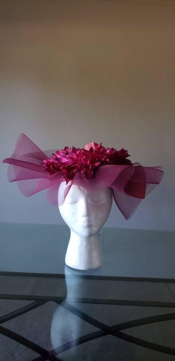 Magenta Vintage Fascinator Hat