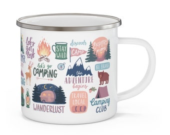 Details about  /Camper Mug Camping Coffee Tea Cup Wilderness Wild