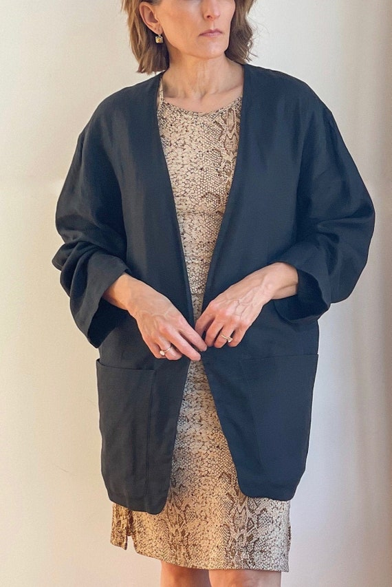 Rare Vintage Donna Karan Linen Jacket Size Small
