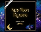 New Moon Tarot reading   24hr Delivery  Psychic Reading   30 min reading approx