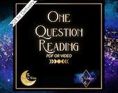 One Question Tarot reading   Fast Tarot Reading   24hr reading (approx 5 min reading)