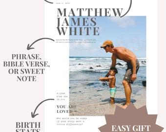 Child Name Gift, Modern Name Print, Child Loss Gift, Miscarriage Gift, Miscarriage Keepsake, Child Loss Memorial Gift, Baby Loss Card