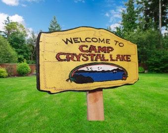 Camp Crystal Lake garden sign decoration