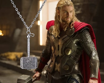 Marvel Thor's Hammer necklace (silver or gold)