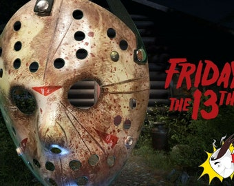 Friday the 13th Jason Voorhees custom painted mask