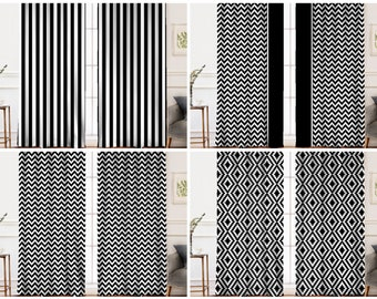 Black and White Curtains   Black and White Striped Curtains   Black White Checkered Curtains   Black White Plaid Curtains Black White Drapes