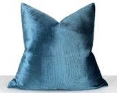 Bright Parliament Blue Pillow Cover, Luxury Soft Pillow, Parliament Blue Throw Pillow, Bright Velvet Luxury Fabric, Light Blue Euro Sham