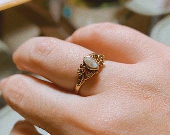 Milgrain Ring 2.30 Black Rutile Engagement Bridal Ring Vintage Art Deco Ring Moissanite Ring. Unique Ring Filigree Ring Solitaire Ring