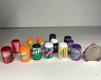 Mini Soda Cans 3D Printed