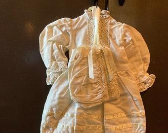 Victorian Tender Heart Treasure Doll Dress - Off-White Crafting Doll Dress