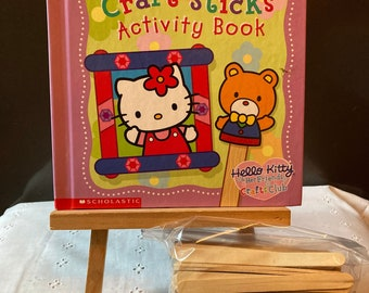 Hello Kitty Craft Sticks Activity Book with 100 Craft Sticks - Hello Kitty and Her Friends Crafts Club - Scholastic Activity Book