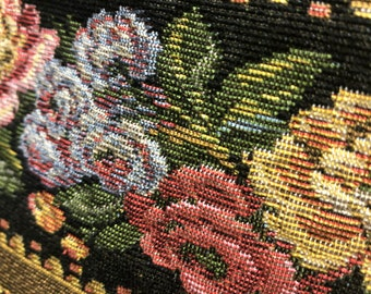 Victorian flower tapestry fabric, made in Belgium