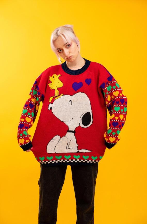 Vintage 80s Snoopy Knit Sweater