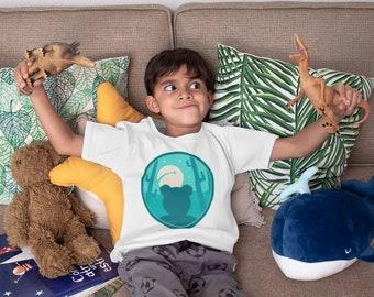 Australia & New Zealand, Kids Teddy Story Tee Shirt, Teddy T-Shirt, Teddy Moon Tee, Unisex Kids' Teddy Bear T Shirt, Heavy Cotton
