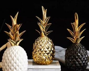 Pineapple ornament | golden pineapple sculpture
