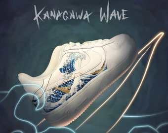 The Great Wave off Kanagawa - Nike Air Force 1 - Custom - Sneakers