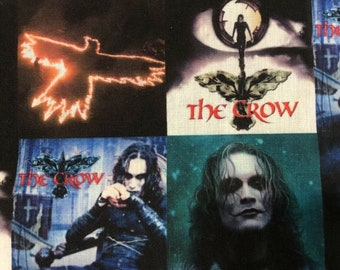 The Crow Brandon Lee Fabric by the Yard Polyester Cotton Blend Vibrant Colors