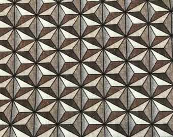 IN STOCK! Spaceship Earth Fabric Medium Scale Custom Print Fabric 1 YD