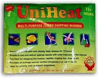 72 Hour heat pack to protect plant in colder climate