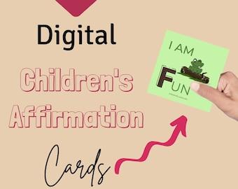 Digital Positive Affirmation Cards | Printable | Affirmations | Digital Download | Instant Download | Children Cards | Affirmation Deck