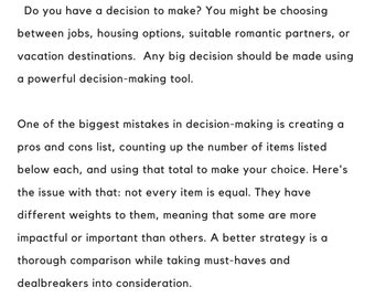 Decision-Making Activity
