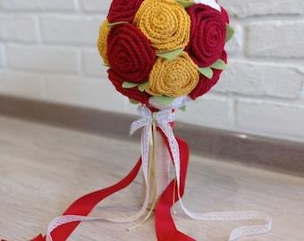 litter bouquet crocheted PDF crochet instructions Bridal bouquet