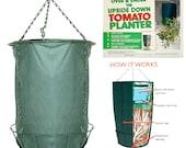 Upside Down Garden Tomato Planter - Summer Hanging Basket for Planting Crop, Fruit, Vegetable - Grow Bag