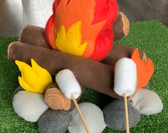 Felt Campfire, Kid's Campfire, Pretend Play, Camping Fire, Play Camping, Flames, Photo prop, Photography Prop