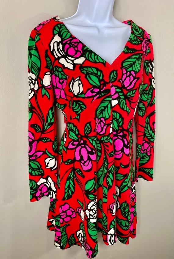 Vintage 60s 70s Groovy Gogo Mod Dress - image 4
