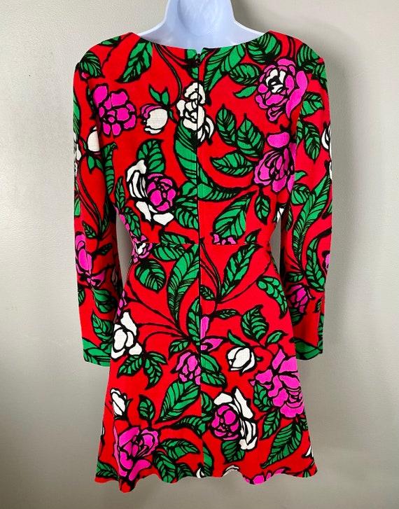 Vintage 60s 70s Groovy Gogo Mod Dress - image 7