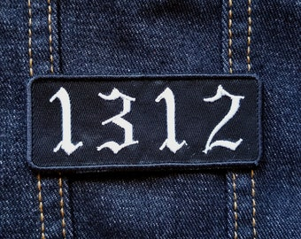 1312 Embroidered 3.5 inch Iron On/Sew On Patch