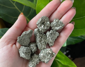 Small Pyrite Clusters | Small Genuine Pyrite Crystal Chunks | Fool's Gold
