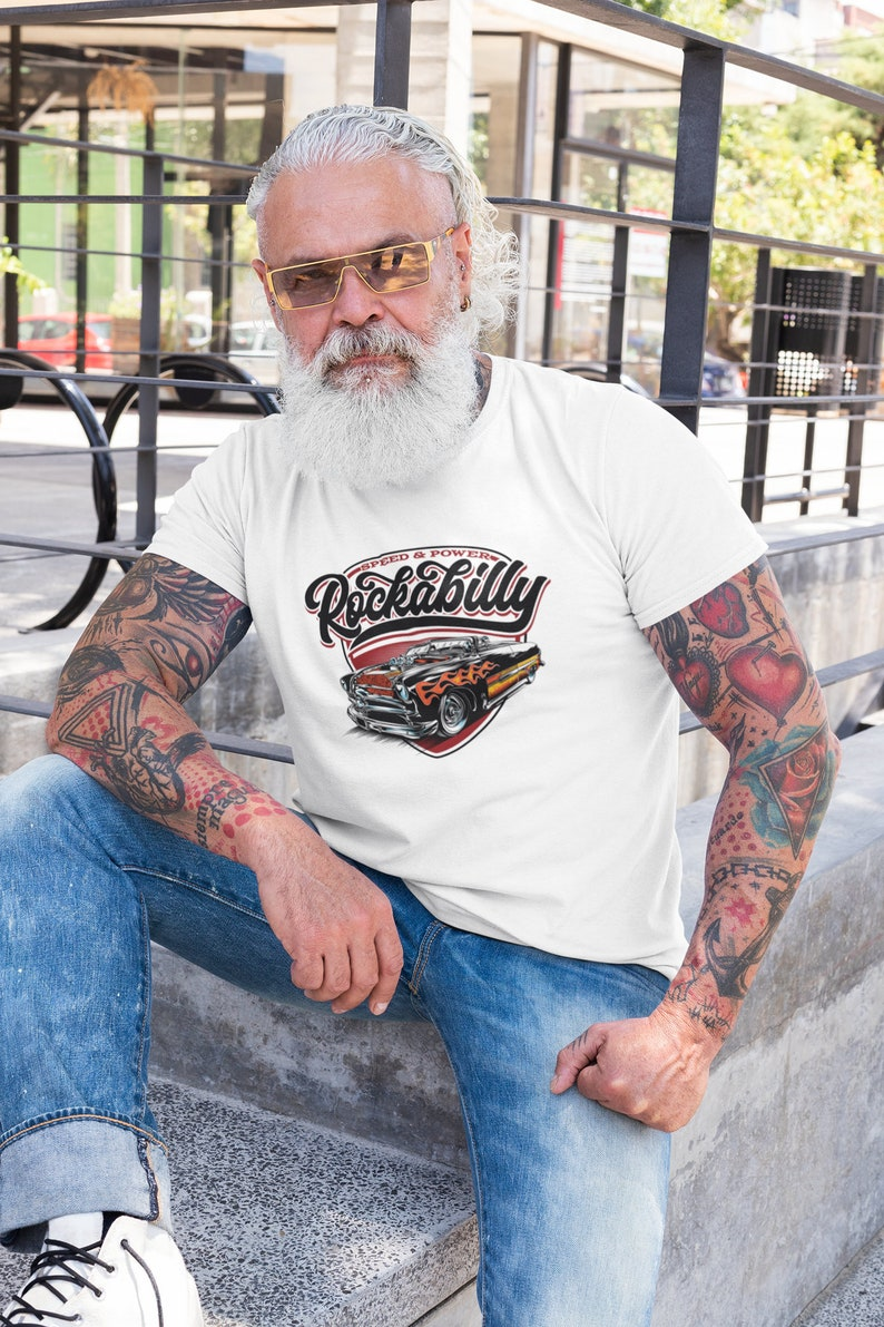 1950s Men's Outfit Inspiration   Clothing Ideas Hotrod T-Shirt Rockabilly Car Enthusiast Muscle Car American Muscle Gift Hot-Rod Shirt Old School $21.99 AT vintagedancer.com