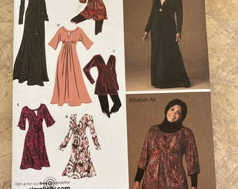 Simplicity Khaliah Ali collection Pattern 2774 ladies dress and top