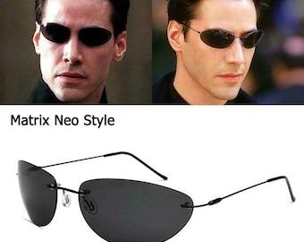 Matrix Neo Style Polarized Sunglasses Black/Smoke