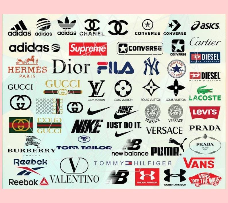 Fashion Brand svgBrands svg files Fashion Brand logo bundle image 0