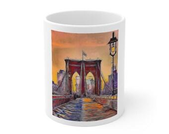 Brooklyn Bridge Coffee Mug by Bellino