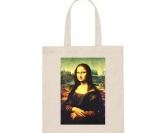 MONA LISA Canvas Tote Bag